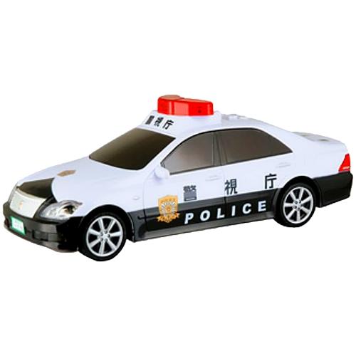 【おもちゃのジャンボ】 サウンド クラウン パトカー (ライト・リアルサウンド・フリクション) 働く 車 おもちゃ 通販 販売