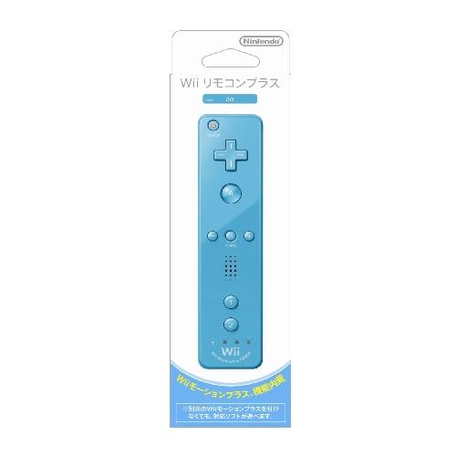ニンテンドー Wii リモコンプラス アオ (Wiiリモコンジャケット付き)