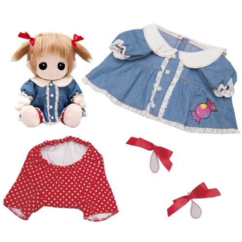 39 デニムワンピース【おもちゃのジャンボ】 夢の子コレクション39 デニムワンピース お洋服 ユメル ネルル ミルル 通販 販売