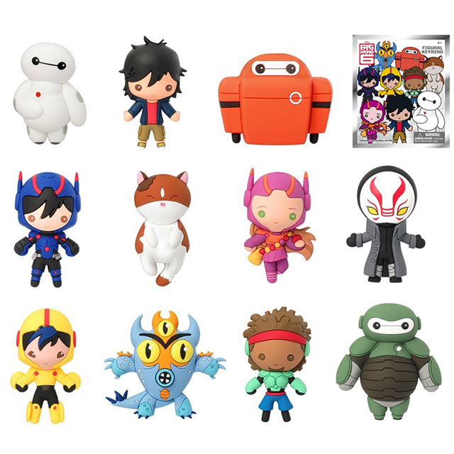 ディズニー ビッグヒーロー6 /ベイマックス フィギュラル 3Dフォーム キーリング ブラインドバッグ 1パック (キーリング1個入り)