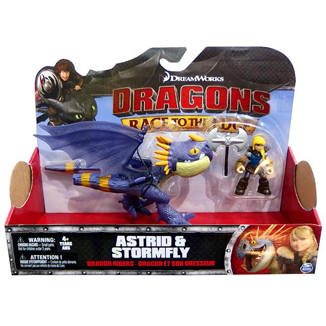 ヒックとドラゴン / 新たな世界へ! ドラゴンライダース フィギュアセット アスティ & ストームフライ