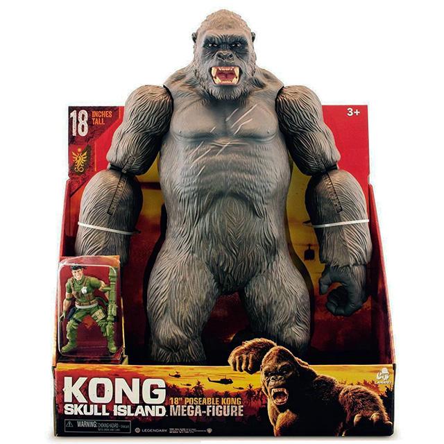 キングコング:髑髏島の巨神 2017 ウォルマート限定 18インチ メガサイズ ポーザブルフィギュア コング
