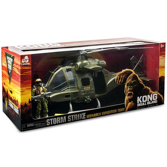 キングコング:髑髏島の巨神 2017 ウォルマート限定 ストームストライク フィギュア&ビークルパック モナーク エクスペディションチーム ヘリコプター