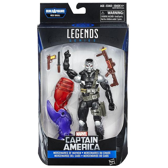 ハズブロ キャプテンアメリカ マーベルレジェンド 6インチ アクションフィギュア レッドスカルオンスロートシリーズ スカージ