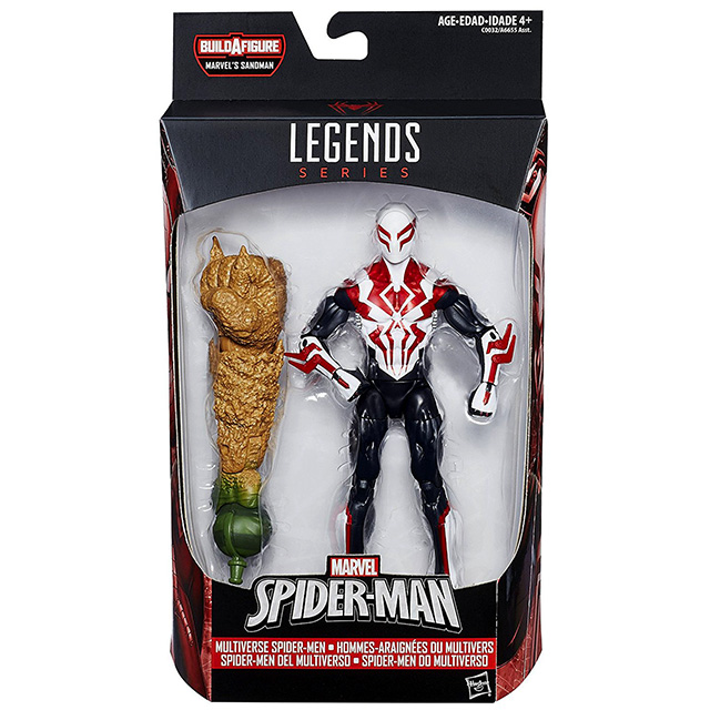 ハズブロ スパイダーマン マーベルレジェンド 6インチ アクションフィギュア サンドマンシリーズ スパイダーマン2099
