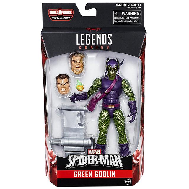 ハズブロ スパイダーマン マーベルレジェンド 6インチ アクションフィギュア サンドマンシリーズ グリーンゴブリン