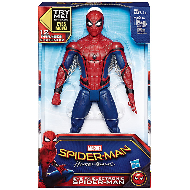 スパイダーマン:ホームカミング 12インチ トーキングフィギュア アイ FX エレクトロニック スパイダーマン