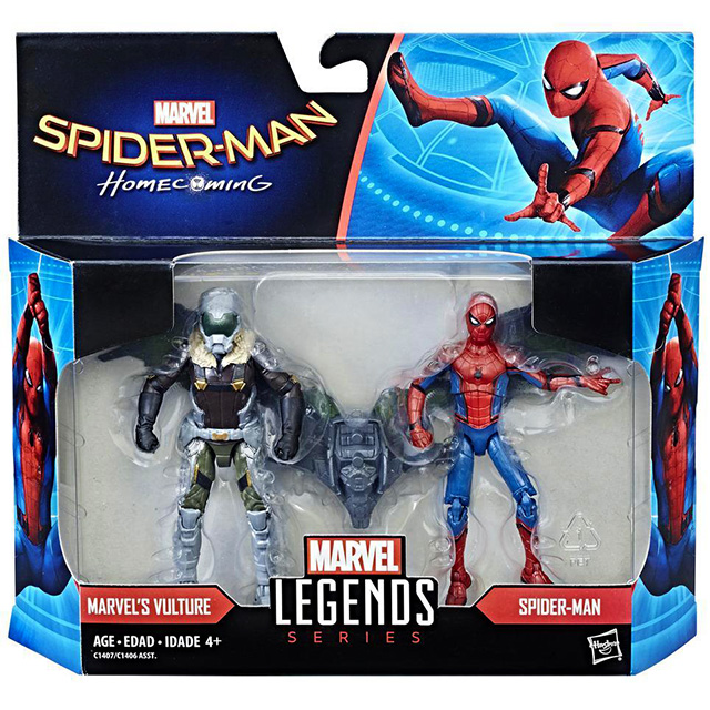 スパイダーマン:ホームカミング マーベルレジェンド 3.75インチ ベーシックフィギュア 2パック スパイダーマン & ヴァルチャー