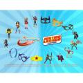DCコミックス USマクドナルド ハッピーミールトイ ジャスティスリーグアクション&DCスーパーヒーローガールズ 16種セット