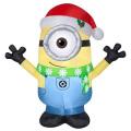 ディスピカブルミー / 怪盗グルーシリーズ クリスマスディスプレイ ミニオン カール インフレイタブル エアブロー ライトアップ バルーン