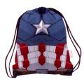 キャプテンアメリカ / シビルウォー ドローストリング バックパック キャプテンアメリカ