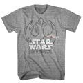 スターウォーズ/ローグ・ワン 反乱同盟軍 ロゴ ライトグレー Tシャツ メンズSサイズ