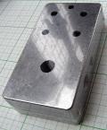 【アルミニウムダイキャスト】NB(ノーブランド)エフェクターサイズ:穴あけ加工済み【4ノブ用】