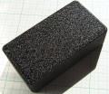 【アルミニウムダイキャスト】NB(No BRAND):エフェクターサイズ(ブラックレザートーン塗装:チジミ)