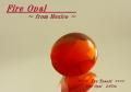 【アクセサリールース】鮮やかなオレンジ色!メキシコ産ファイアオパールルース2.97ct.オーバルシェイプ11x9mmバフトップ