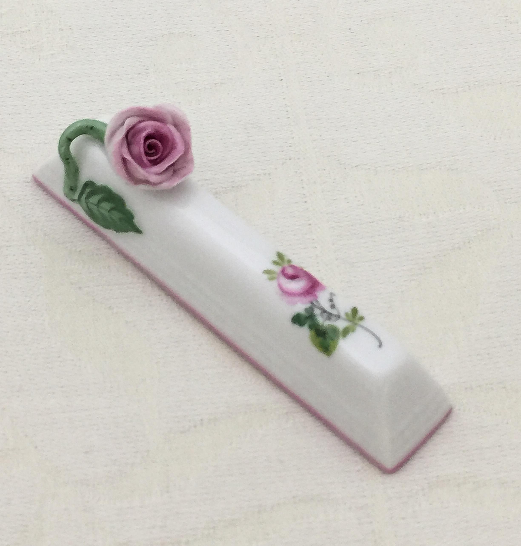 ヘレンド VRH-X4 00276-0-09 ウィーンの薔薇ピンク ナイフレスト 薔薇
