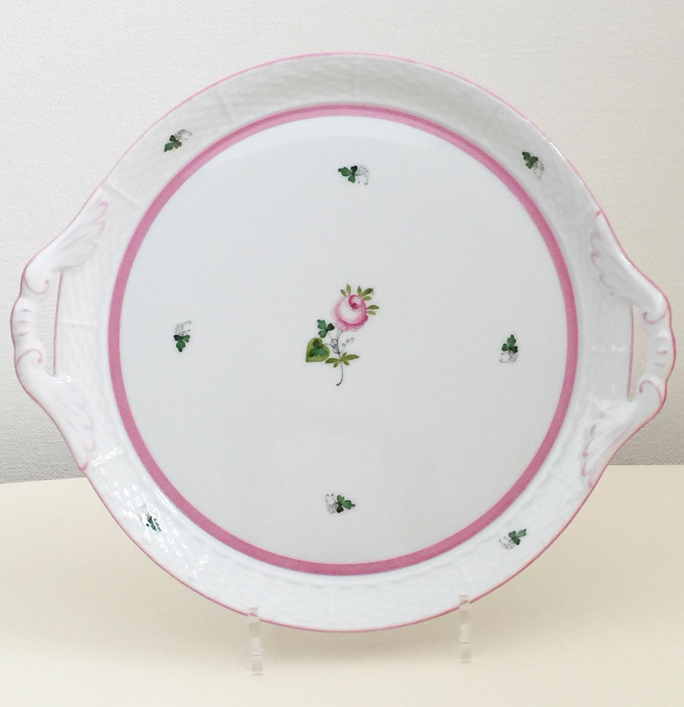 ヘレンド VRH-X4 00315-0-00 ウィーンの薔薇ピンク ガトープレート 29cm (ガトープレートのみ、ポット・カップソーサーは付きません)
