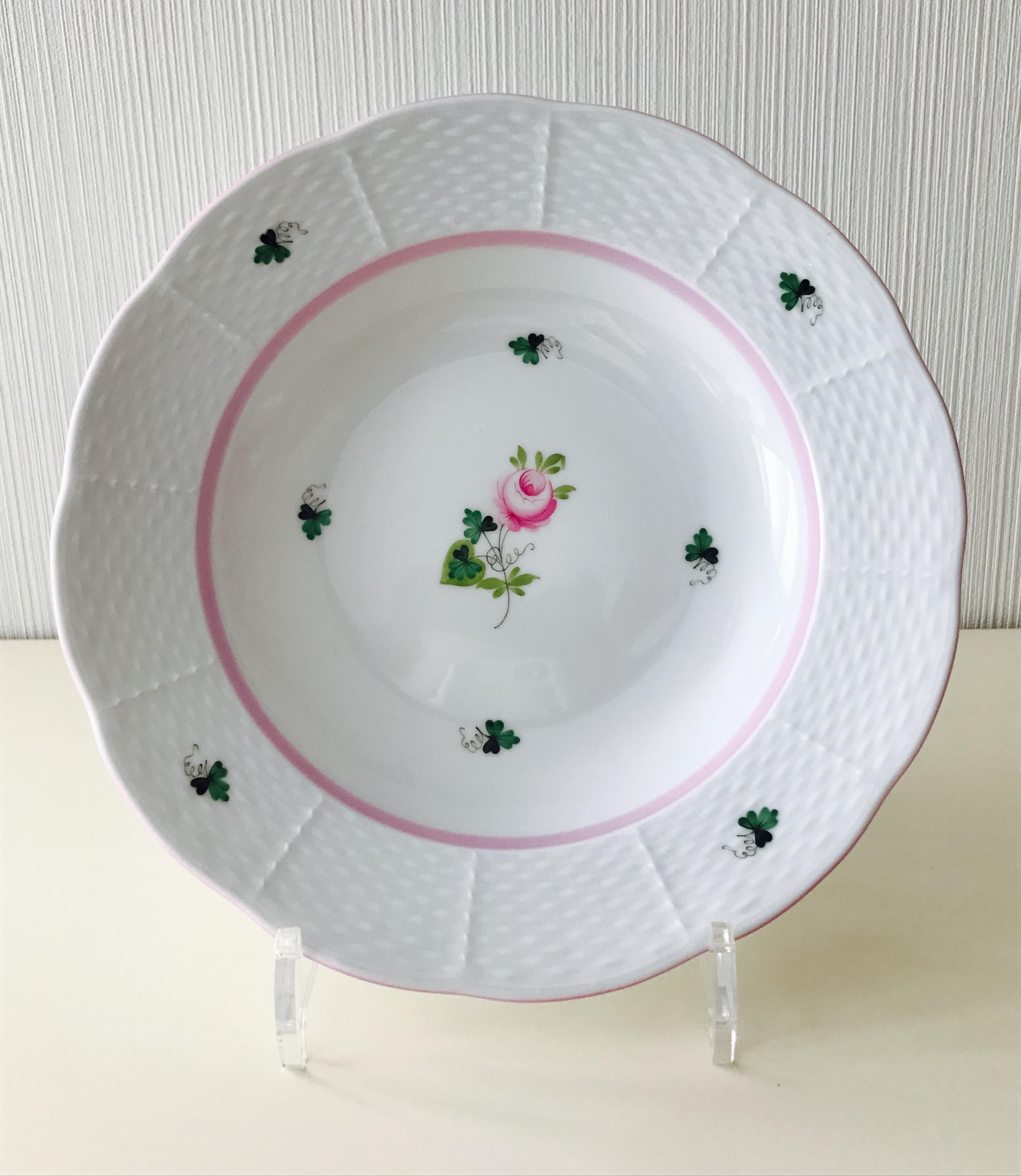 ヘレンド VRH-X4 00504-0-00 ウィーンの薔薇ピンク スーププレート 約23cm *スーププレートのみ。ディナープレートは別売りです。