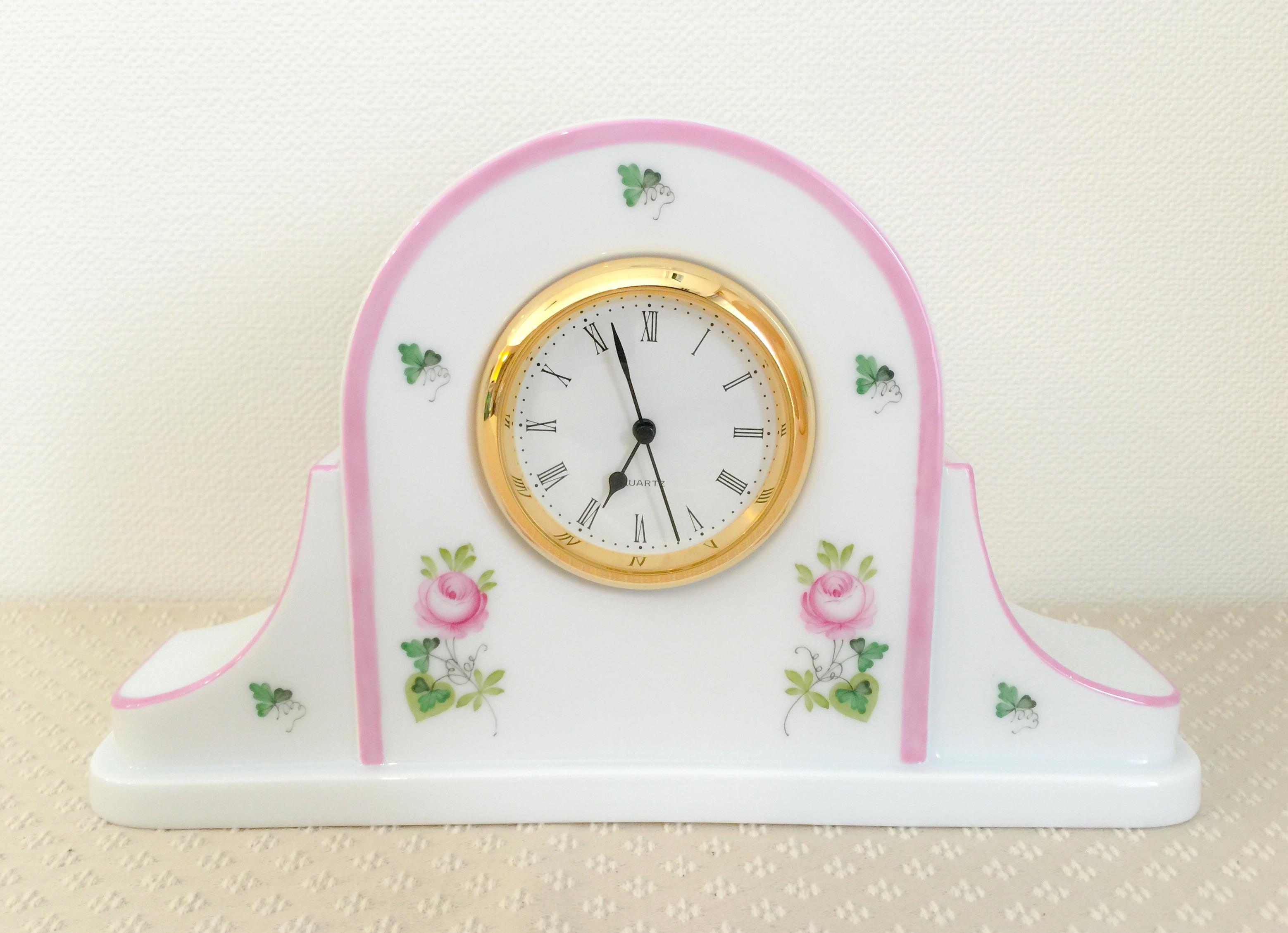 ☆ラスト1点☆再入荷☆VRH-X4 ウィーンのバラピンク テーブルクロック 08081-0-00