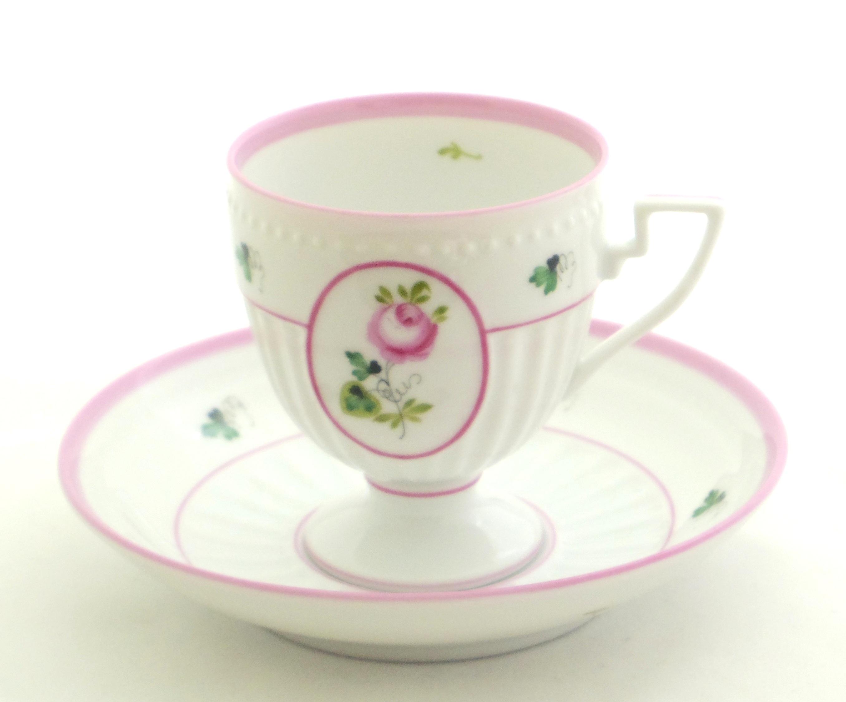 ☆ラスト1点☆ヘレンド VRH-X4 04467-0-00 ウィーンの薔薇ピンク アンピール カップ&ソーサー