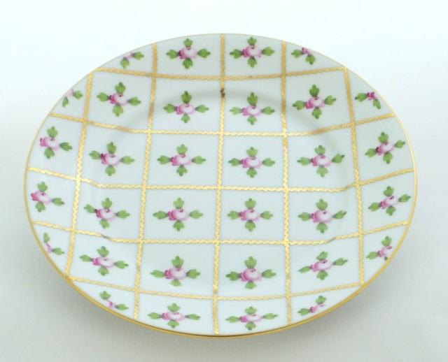 ヘレンド SPRO  02518-0-00 セーブル風 小薔薇 金彩 デザートプレート