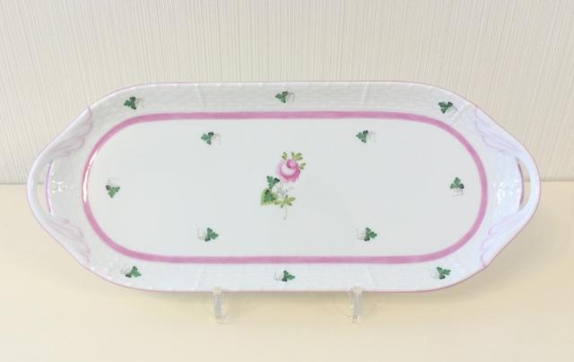 ☆レア品☆ ヘレンド VRH-X4 00436-0-00 ウィーンの薔薇ピンク サンドウィッチプレートラージサイズ *プレートのみ(その他は付属しません)