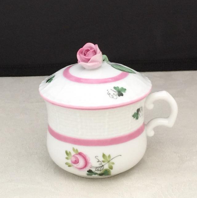 ☆即納品☆ ヘレンド VRH-X4 00385-0-09 ウィーンの薔薇ピンク クリームカップ