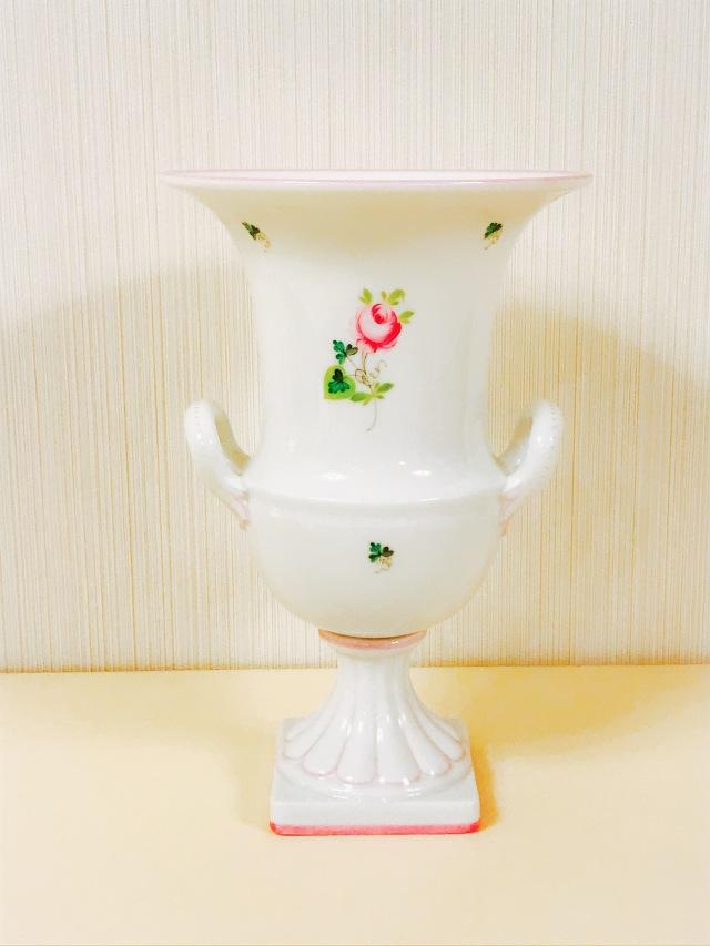 ヘレンド VRH-X4 06421-0-00 ウィーンの薔薇ピンク フラワーベース