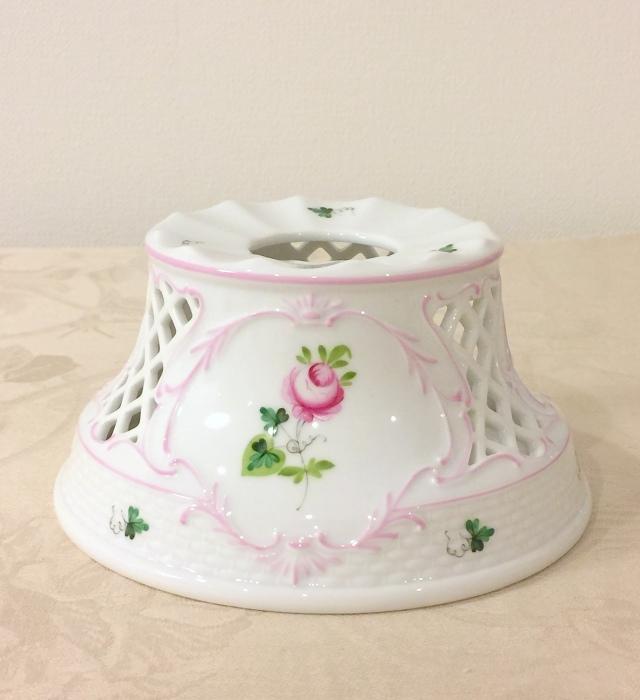 ☆再入荷即納品☆ ヘレンド VRH-X4 00455-0-00 ウィーンの薔薇ピンク ポットウォーマースタンド 透かし入り