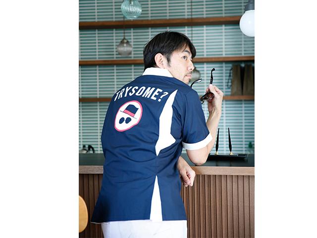 TRYSOMEボウリングシャツ