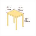 高さ91-100cm/奥行き81-90cm/横幅61-70cmの机/デスク