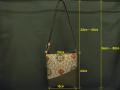 【龍郷柄】 大島紬のショルダーバッグ(信玄袋型)