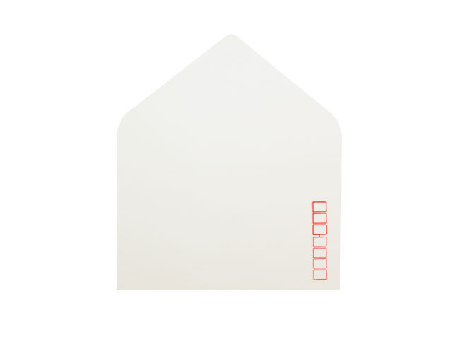 洋1封筒 白菊 郵便枠入り/100枚(Y10461)