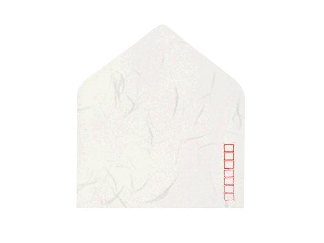 洋2封筒 和紙 白大礼 郵便枠入り/100枚(Y20471)