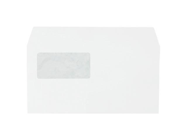洋0封筒 セロ窓付 カマス貼 洋長3(中身が見えない) プラテクトホワイト 100g 500枚(YS0992)