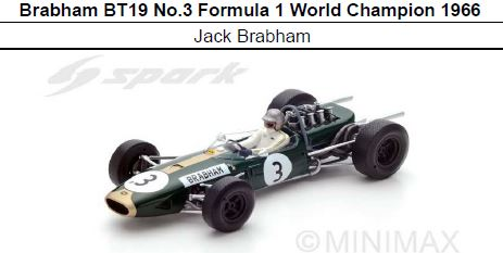 ◎予約品◎1/18 Brabham BT19 No.3 Formula 1 World Champion 1966   Jack Brabham