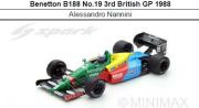 ◎予約品◎1/18 Benetton B188 No.19 3rd British GP 1988   Alessandro Nannini
