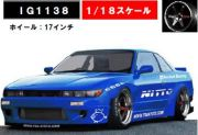 ◎予約品◎1/18 Rocket Bunny S13 V2 Blue Metallic  (1/18 Scale)