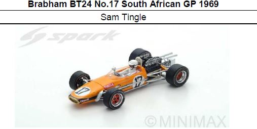◎予約品◎Brabham BT24 No.17 South African GP 1969  Sam Tingle