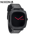 NIXON ニクソン SHUTTER/All Black / Pink/正規品 レディス時計