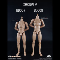 【COO】BD007 BD008 Standard Muscle Arm Body 1/6スケール 男性ボディ素体