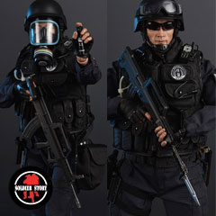 【Soldier Story】SS099 1/6 Blue Steel Commandos SWAT ブルースチールコマンド 北京市公安局特警部隊 藍剣突撃隊