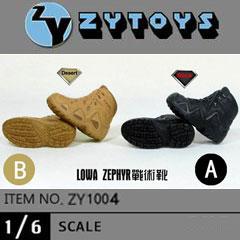 【ZYTOYS】ZY1004 AB タクティカルブーツ 1/6スケール 男性用シューズ