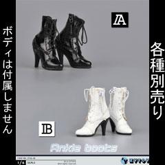 【ZYTOYS】ZY16-28 AB ハイヒールショートブーツ 1/6スケール 女性用シューズ
