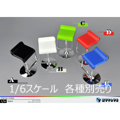 【ZYTOYS】ZY3005 A B C D E 1/6 Square bar swivel chair 1/6スケール チェア 椅子