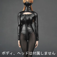 【ZYTOYS】ZY5003 high collar open chest leather 1/6スケール 女性コスチューム