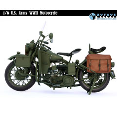 【ZYTOYS】1/6 WW2 U.S. Army Military Motorcycle WLA 1/6スケール 米軍オートバイ