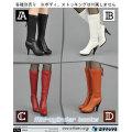 【ZYTOYS】ZY16-27 ABCD ハイヒールロングブーツ 1/6スケール 女性用シューズ