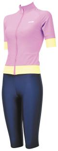 女性用水着 aquafan 251008 袖付きスタンドカラーセパレーツ(セパピース仕様) 4L・5L