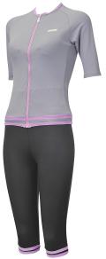 女性用水着 aquafan歩く水着 251010 袖付きセパレーツ(セパピース仕様) M-3L